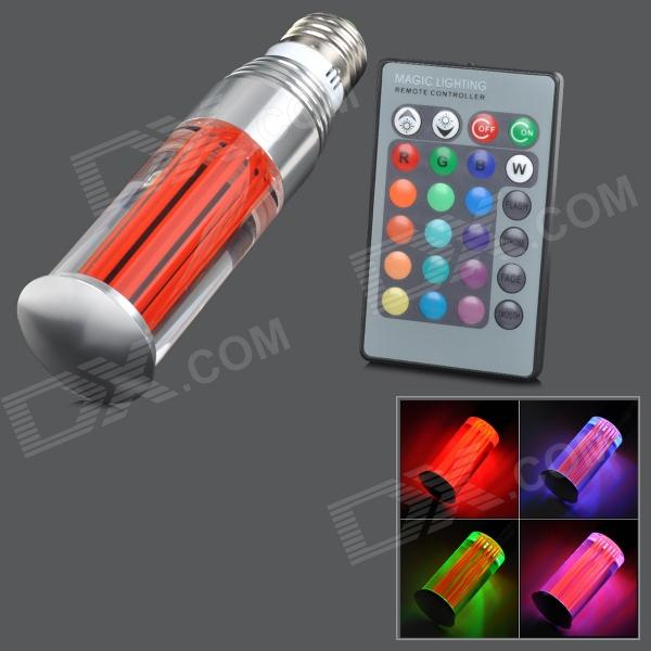 TOPLE TJ-RGB-3WZ E27 3W 180lm 1-LED RGB Light Lamp w/ Remote Control - Red + Silver (AC 100~240V) new arrival starlite dance floor 120cm x 60cm white rgb color mixing optional ac90 240v led star dancing floor remote control