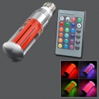 TOPLE TJ-RGB-3WZ E27 3W 180lm 1-LED RGB Light Lamp w/ Remote Control - Red + Silver (AC 100~240V)