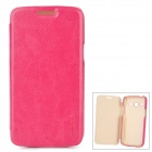 PUDINI LX-G3502U Protective PU Leather + PC Case for Samsung Galaxy Trend 3 G3502U - Deep Pink