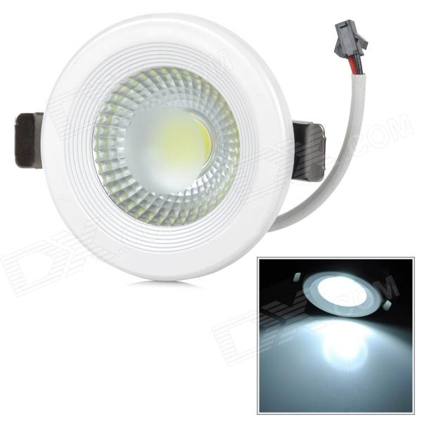 5W 400lm 6000K 1-COB White Light Ceiling Lamp / Spotlight - White + Black (AC 85~265V) kinfire kf1 5w 400lm 6000k 1 cob led white light ceiling lamp white silver ac 85 265v