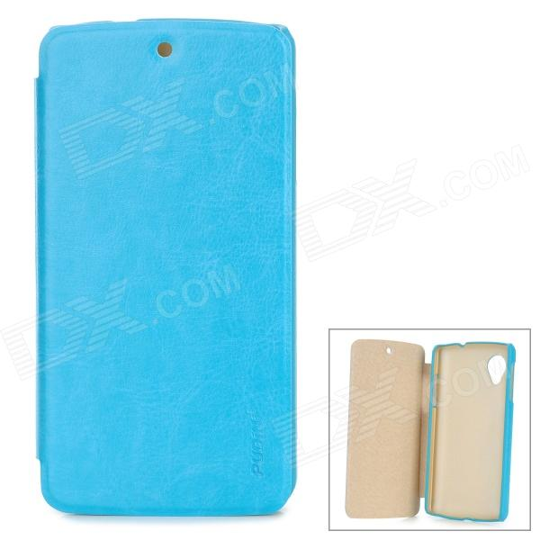 PUDINI LX-GN5 Protective PU Leather + PC Case for LG Nexus 5 - Blue pudini lx g730 protective pc back case for huawei g730 u00 dark blue