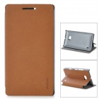 PUDINI LX-N929 Protective PU Leather Case for Nokia Lumia 929 - Brown