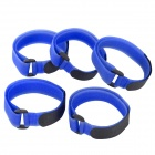 2X40 Convenient Nylon Velcro Tying Band Cable Ties - Deep Blue (5 PCS)