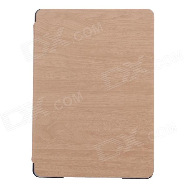 Fashion Ultra Thin Flip Open Protective PU Leather Case  w/ Auto Wake-up / Sleep for Ipad 5 - Wood