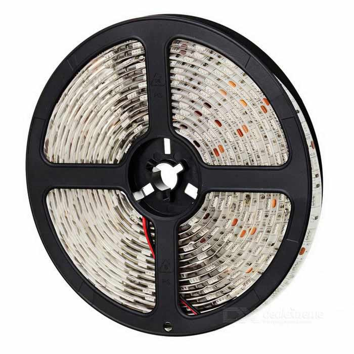 HML Waterproof 72W 550nm Chemy 300 x SMD 5050 LED Green Light LED Strip (12V / 5m) zdm waterproof 72w 200lm 470nm 300 smd 5050 led blue light strip white grey dc 12v 5m