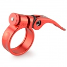 HZDZ GJ-5 Aluminum Alloy Bicycle Seat Tube Clamp - Red (34.9mm Diameter)