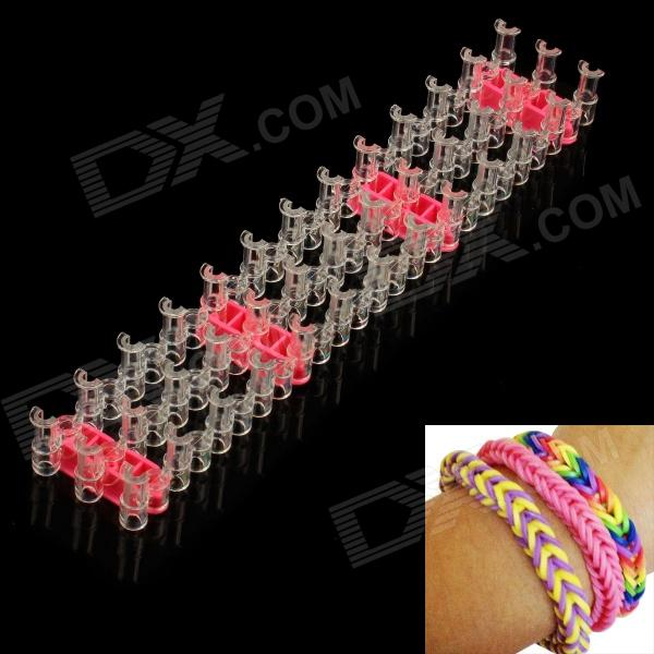 DIY Silicone Rubber Band Bracelet - Multicolored diy silicone rubber band bracelet purple transparent
