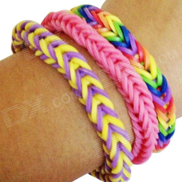 DIY Silicone Rubber Band Bracelet - Multicolored - Free Shipping ...