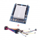 Mini Breadboard / testboard + 70 placa sin soldadura flexible Cables Jumper Juego de cables