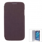 SAYOO 2351 Small Stone Striation PU Leather Protective Case for Samsung GALAXY S4 i9500 - Brown