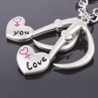 DEDO MG-67 Lover Music Notes Zinc Alloy Keychain - Silver (2 PCS)