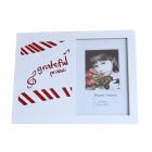 DEDO MG-224 Fashionable Glass Photo Frame w/ Keyboard - White + Red