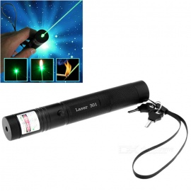 303 5mW Green Light Laser Pointer Flashlight + US Plugs Charger - Blue
