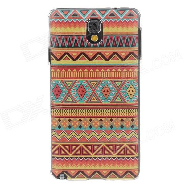 Fashion National Style Coloured Drawing Protective Plastic Back Case for Samsung Galaxy Note3 N9005 metal ring holder combo phone bag luxury shockproof case for samsung galaxy note 8