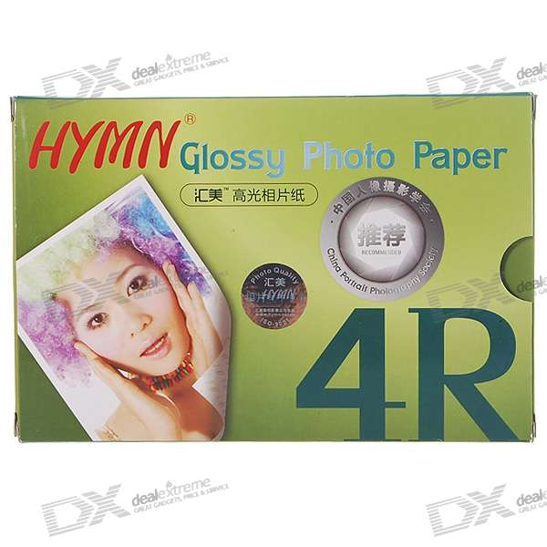 "4"" x 6"" 4R Glossy Photo Paper (100-Sheet)"