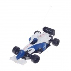HappyCow 777-217 Mini Rechargeable 2-CH Radio Control R/C F1 Sport Racing Car - Blue + White + Black