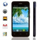 "KICCY MTK6572 Dual-Core Android 4.2 WCDMA Bar Phone w/ 4.0"" IPS, Wi-Fi, GPS, ROM 4GB - Black"