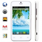 "KICCY MTK6572 Dual-Core Android 4.2 WCDMA Bar Phone w/ 4.0"" IPS, Wi-Fi, GPS, ROM 4GB - White"