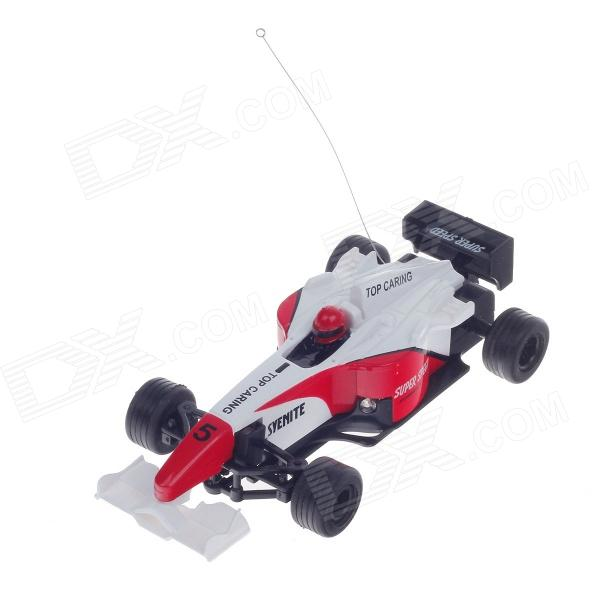 HappyCow 777-217 Mini Rechargeable 2-CH Radio Control R/C F1 Sport Racing Car - Red + White + Black vrx racing hurricane 4wd rtr 1 5 2 4g rgc 0004 01
