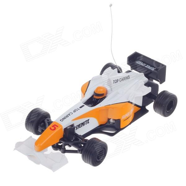 HappyCow 49MHz Mini Rechargeable 2-CH Radio Control R/C F1 Sport Racing Car - Yellow + White + Black