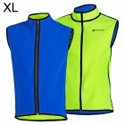 NUCKILY MI005 Cycling Warm Dual-Side Fleeces Vest - Green + Blue (XL)