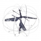 HappyCow Mini 3-CH IR Remote Control Helicopter Light UFO w/ Gyroscope - White + Black