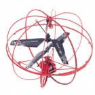 HappyCow Mini 3-CH IR Remote Control Helicopter Light UFO w/ Gyroscope - Red + Black