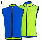 NUCKILY MI005 Cycling Men's Dual-Side Fleece Vest - Green + Blue (Size L)