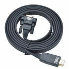 Ugreen 40231 HDMI Male to VGA Male Signal Converting Cable / HD interface to VGA Converter - Black