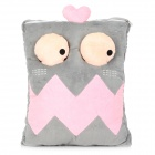 E-Warmer F2103 Cute Big Mouth Pattern USB Powered Feet Warmer Cushion - Pink + Grey