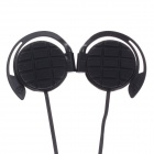 Sibyl G-3 Stylish Stereo Ear Hook Headphones - Black (3.5mm Plug / 114cm-Cable)