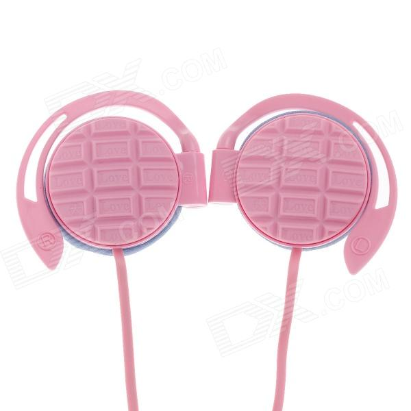 Sibyl G-3 Stylish Stereo Ear Hook Headphones - Pink (3.5mm Plug / 114cm-Cable)
