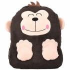 E-Warmer F2102 Cute Monkey Style USB Powered Feet Warmer Cushion - Pink + Tan