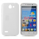 PUDINI LX-G730 Protective TPU Back Case for Huawei G730 - White