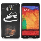 3D Basketball & Shoes Style Protective Back Case for Samsung Galaxy Note 3 - Black + White