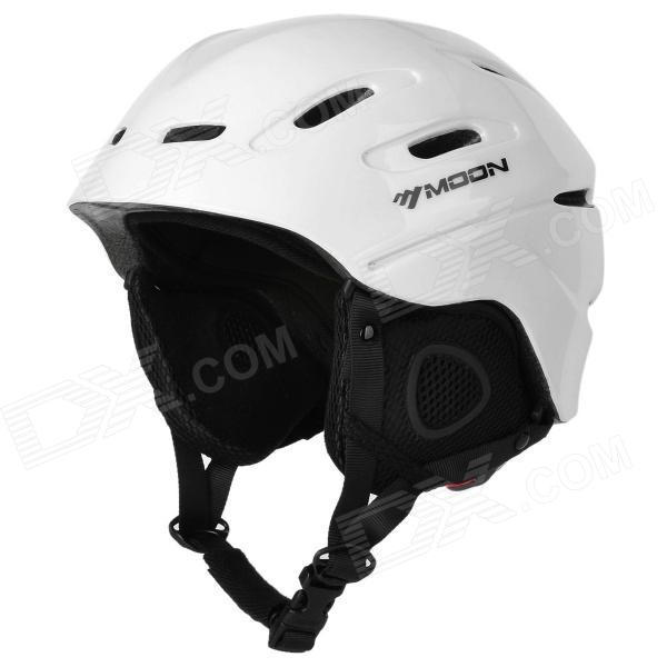 moon MS-90 Outdoor Skiing PC + EPS Protective Helmet - White (Size M)