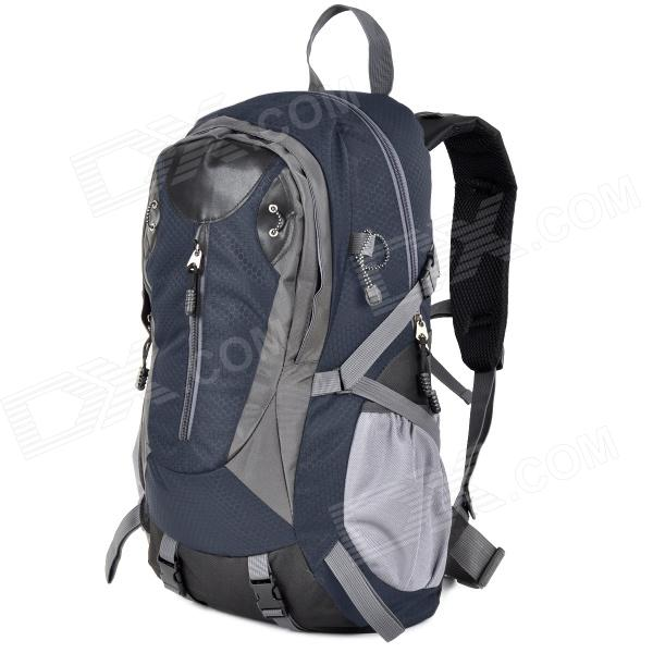 Creeper 3912 Outdoor Nylon Mountaineering Bag - Black + Blue + Multicolored (40L)
