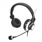 Gorsun GS-A835 Wired Gaming Voice Headphone Headset w/ Mic - Black + White