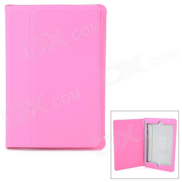 Ultrathin Protective Frosted PU Leather Case for Retina Ipad MINI - Pink for ipad mini 1 2 3 matte litchi soft pu artificial leather case magnetic sleep wake up flip cover case retina