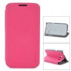 PUDINI LX-3502U Protective PU Leather Case for Samsung Galaxy Trend 3 G3502U - Deep Pink