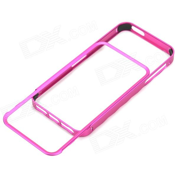 Stylish Protective Aluminum Alloy Bumper Frame Case for Iphone 5 / 5s - Deep Pink protective aluminum alloy bumper frame case for iphone 5 rose gold