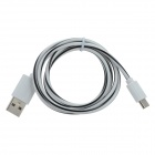 USB to Micro USB Data/Charging Cable for Samsung / HTC + More - White + Black