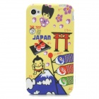 Japan Sumo Style Protective Silicone Back Case for Iphone 4 / 4s - Multicolor