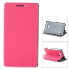 PUDINI LX-N929 Protective PU Leather Case for Nokia Lumia 929 - Deep Pink