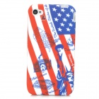 US National Flag Statue of Liberty Style Silicone Back Case for Iphone 4 / 4s - Red + Blue + White