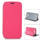 PUDINI LX-G3812 Protective PU Leather Case for Samsung G3812 - Deep Pink