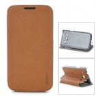 PUDINI LX-3502U Protective PU Leather Case for Samsung Galaxy Trend 3 G3502U - Brown