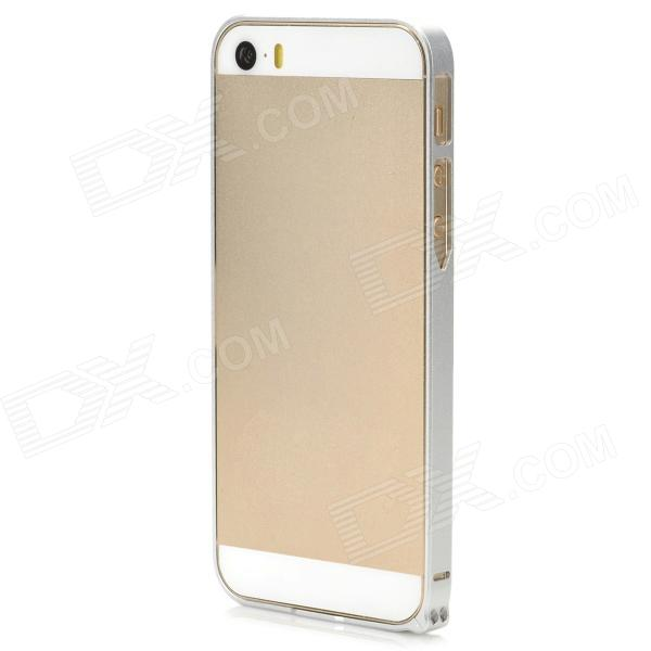 S-What Ultrathin Protective Aluminum Alloy Bumper Frame Case for Iphone 5 / 5s - Silver