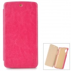 PUDINI LX-GN5 Protective PU Leather + PC Case for LG Nexus 5 - Deep Pink