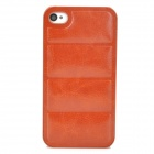 Protective PU Leather + PC Back Case for Iphone 4 / 4s - Brown